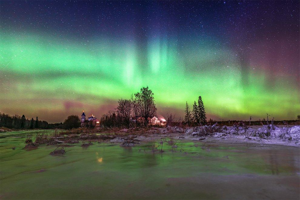 Архангельск – Северное сияние